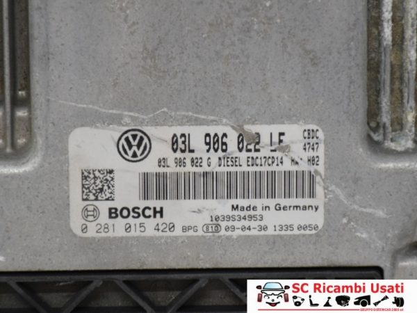 CENTRALINA INIEZIONE MOTORE 2.0 TDI VW GOLF 6 03L906022LF 0281015420