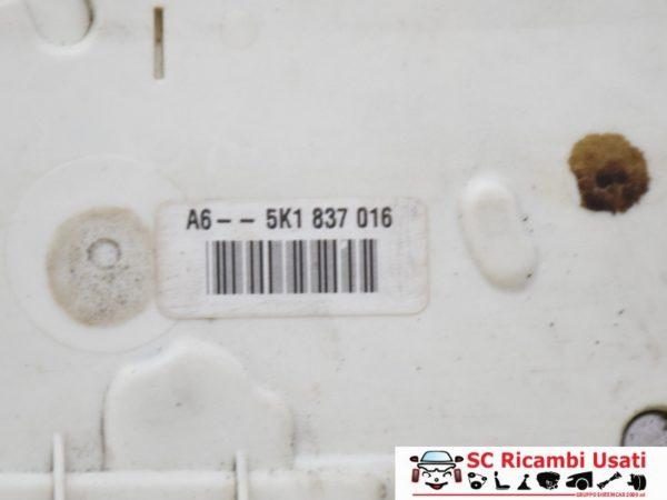 SERRATURA ANTERIORE DESTRA DX VOLKSWAGEN GOLF 6 5K1837016
