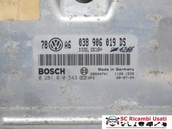 CENTRALINA MOTORE 1.9 TDI VOLKSWAGEN PASSAT 038906019DS 0281010543