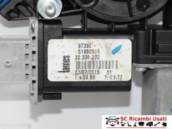 ALZAVETRO ELETTRICO POSTERIORE DESTRO DX FIAT 500L 51980515