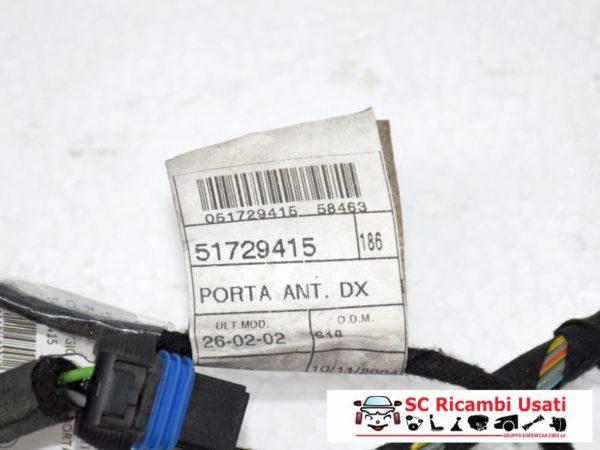 CABLAGGIO PORTA ANTERIORE DESTRO DX FIAT MULTIPLA 51729415